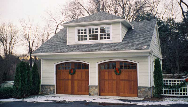 Decks porches and more reed 39 s woods inc custom for Two car garage doors